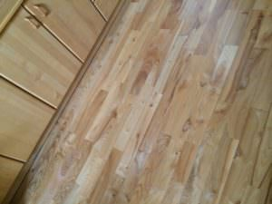 Solid wooden floorboards